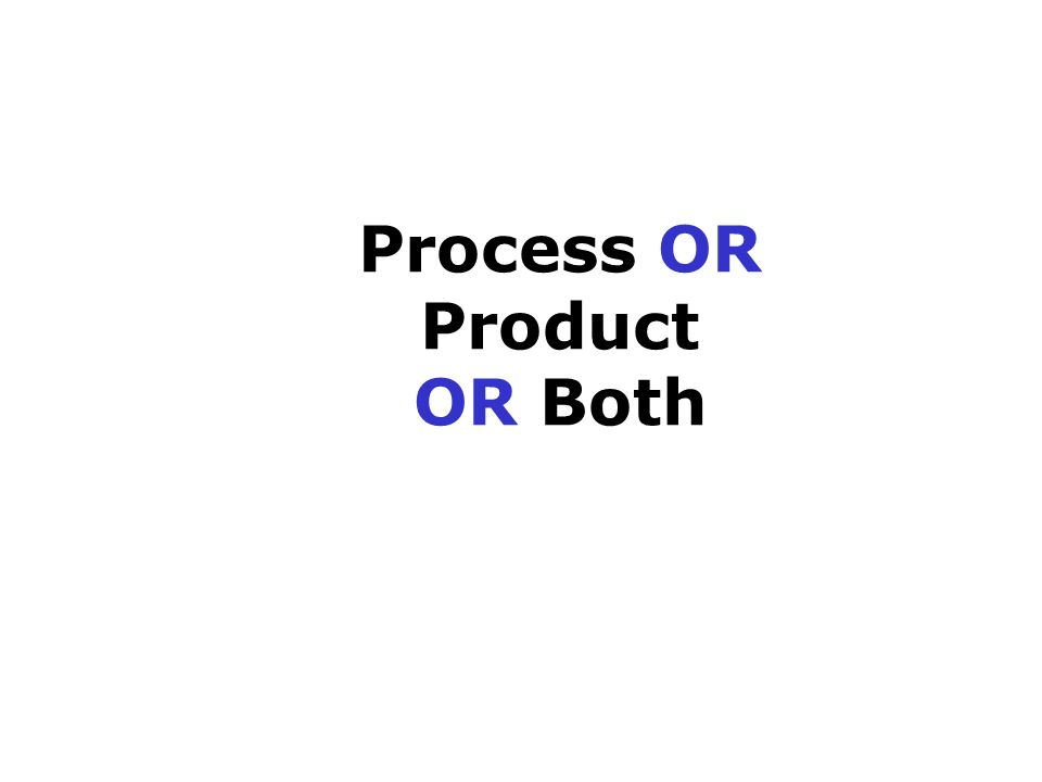 Process OR Product OR Both