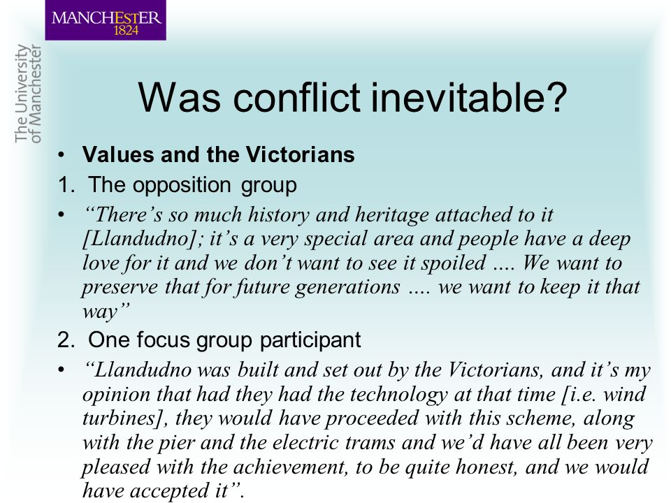 Was conflict inevitable. Values and the Victorians 1.