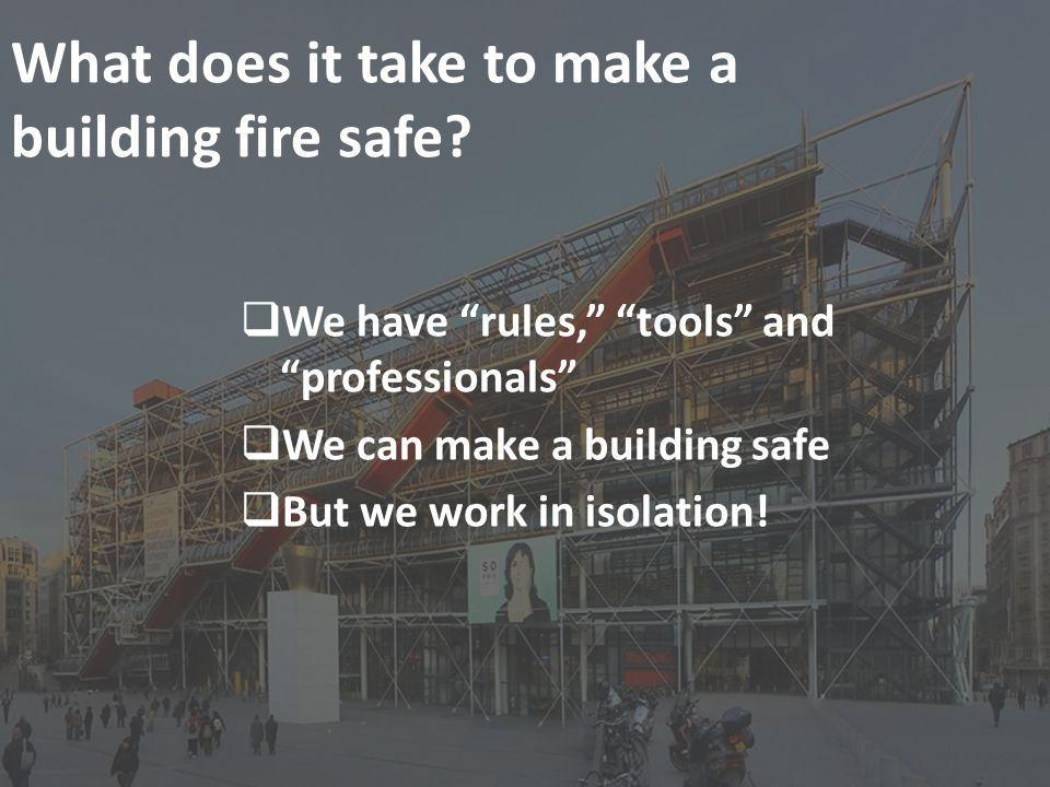 What does it take to make a building fire safe.