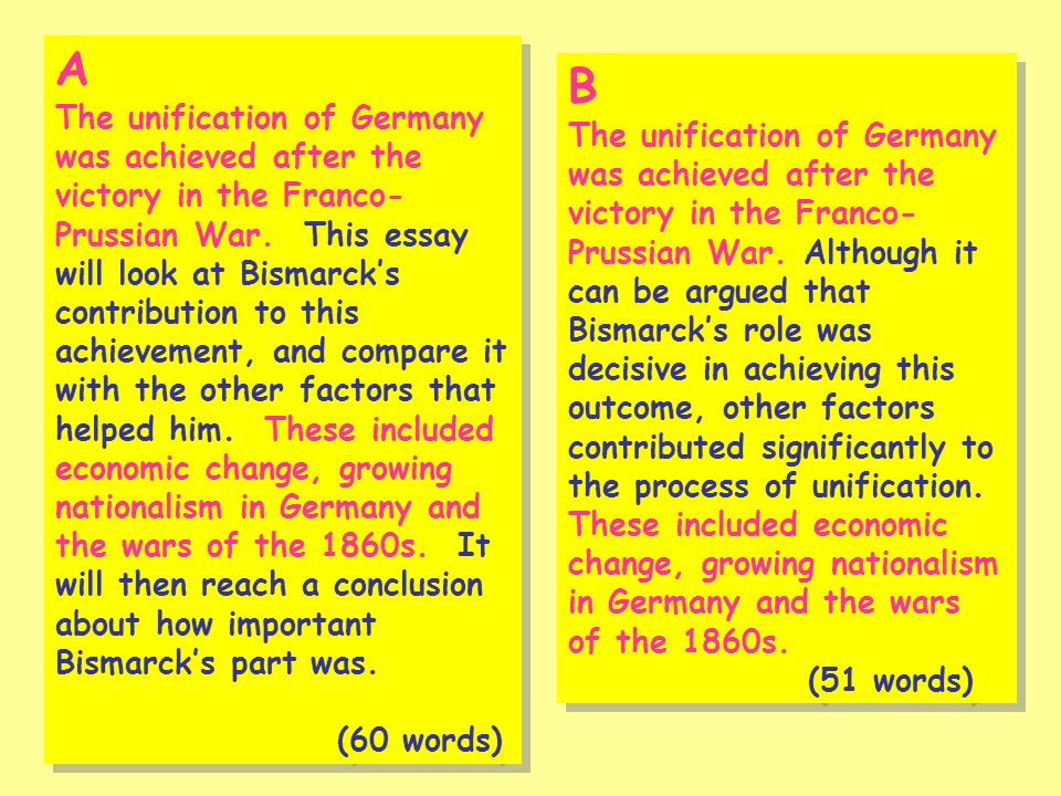 A The unification of Germany was achieved after the victory in the Franco- Prussian War.
