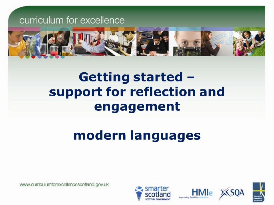 Getting started – support for reflection and engagement modern languages