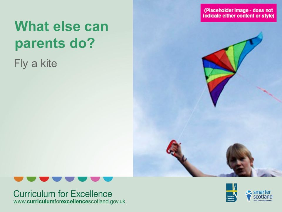 What else can parents do Fly a kite