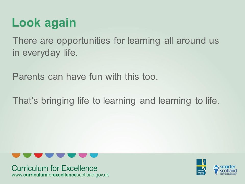 Look again There are opportunities for learning all around us in everyday life.