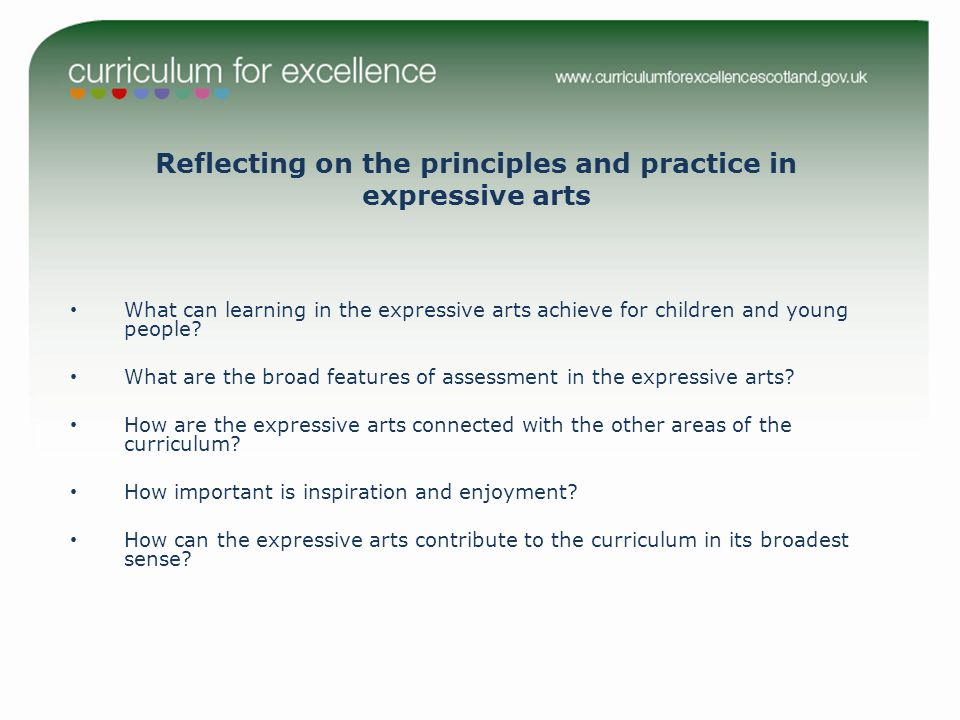 What can learning in the expressive arts achieve for children and young people.
