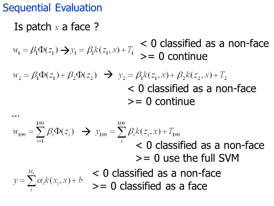 Sequential Evaluation Is patch a face .