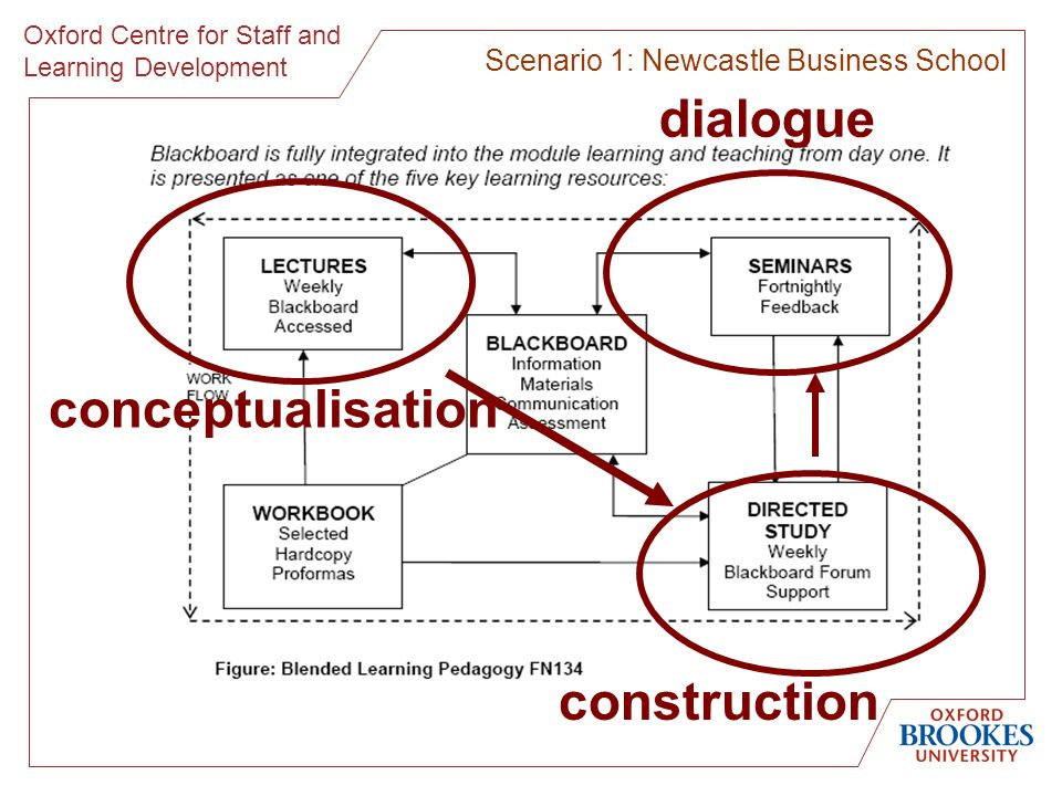 Oxford Centre for Staff and Learning Development Scenario 1: Newcastle Business School conceptualisation construction dialogue