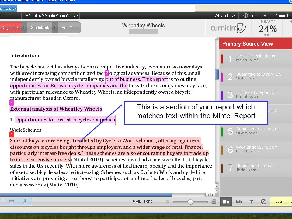 Business School This is a section of your report which matches text within the Mintel Report