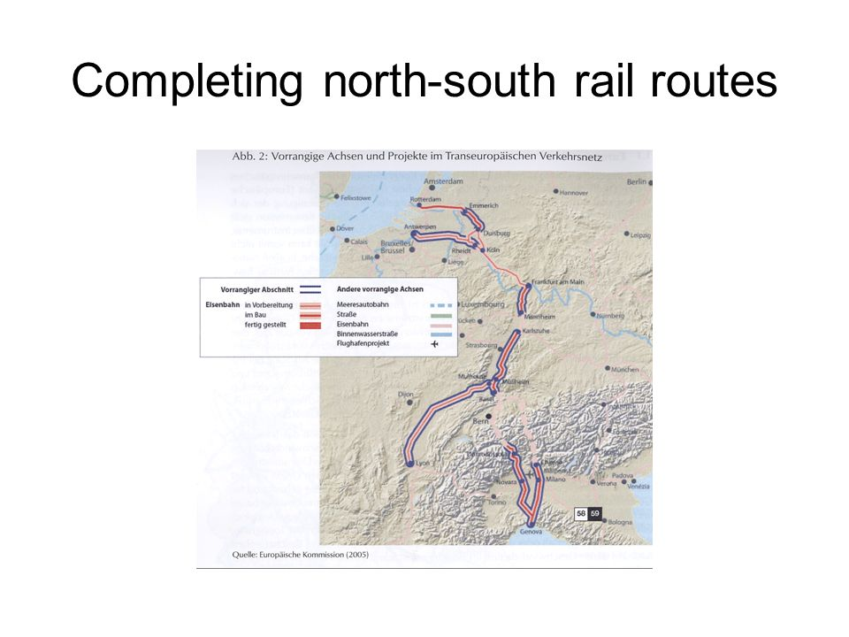 Completing north-south rail routes