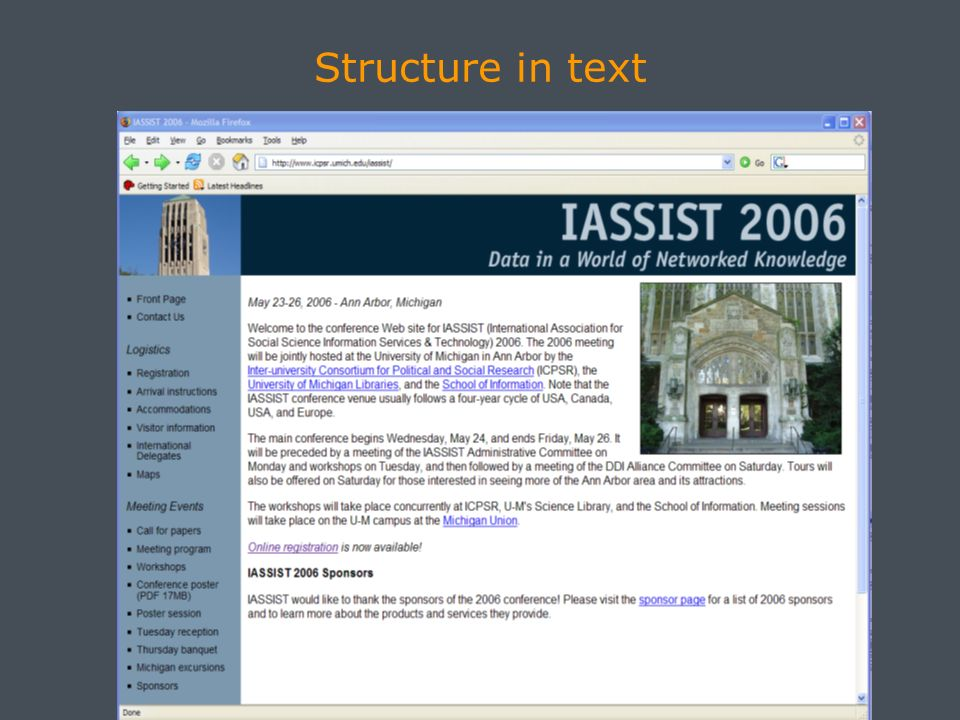 Structure in text