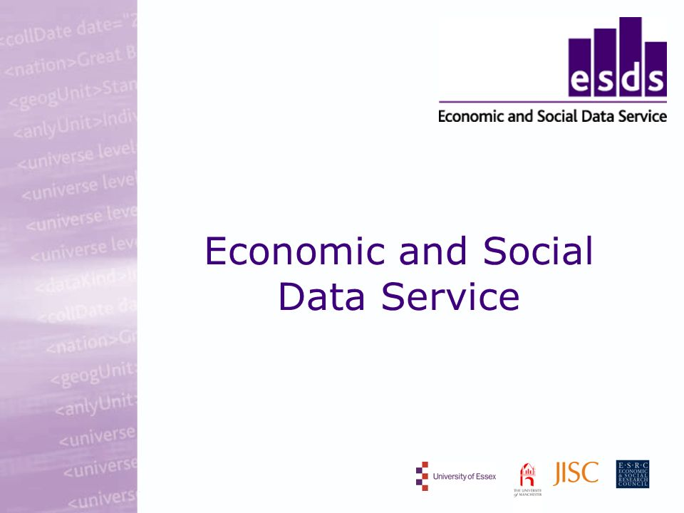 Economic and Social Data Service