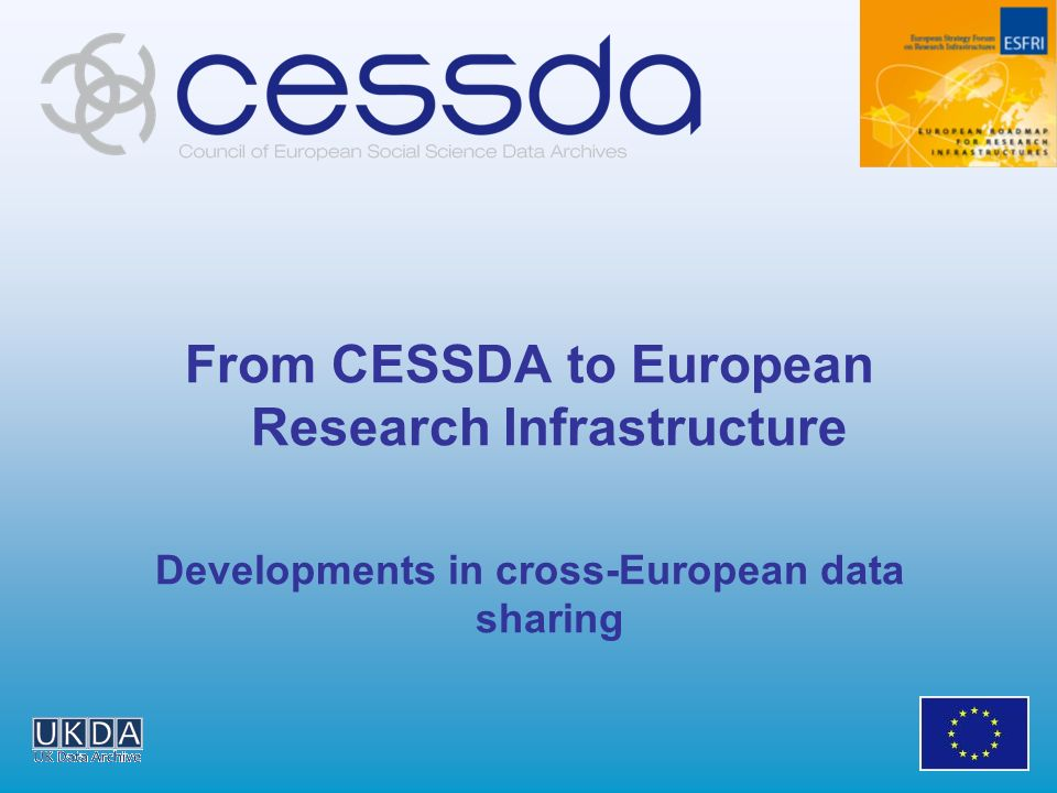 From CESSDA to European Research Infrastructure Developments in cross-European data sharing