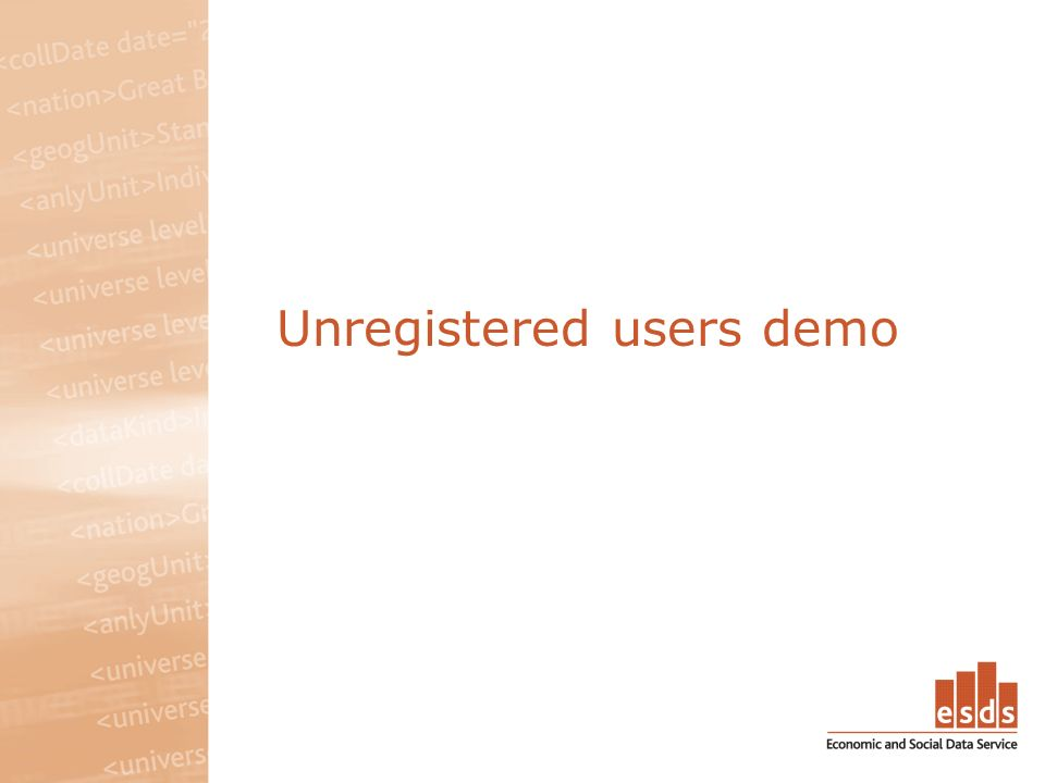 Unregistered users demo