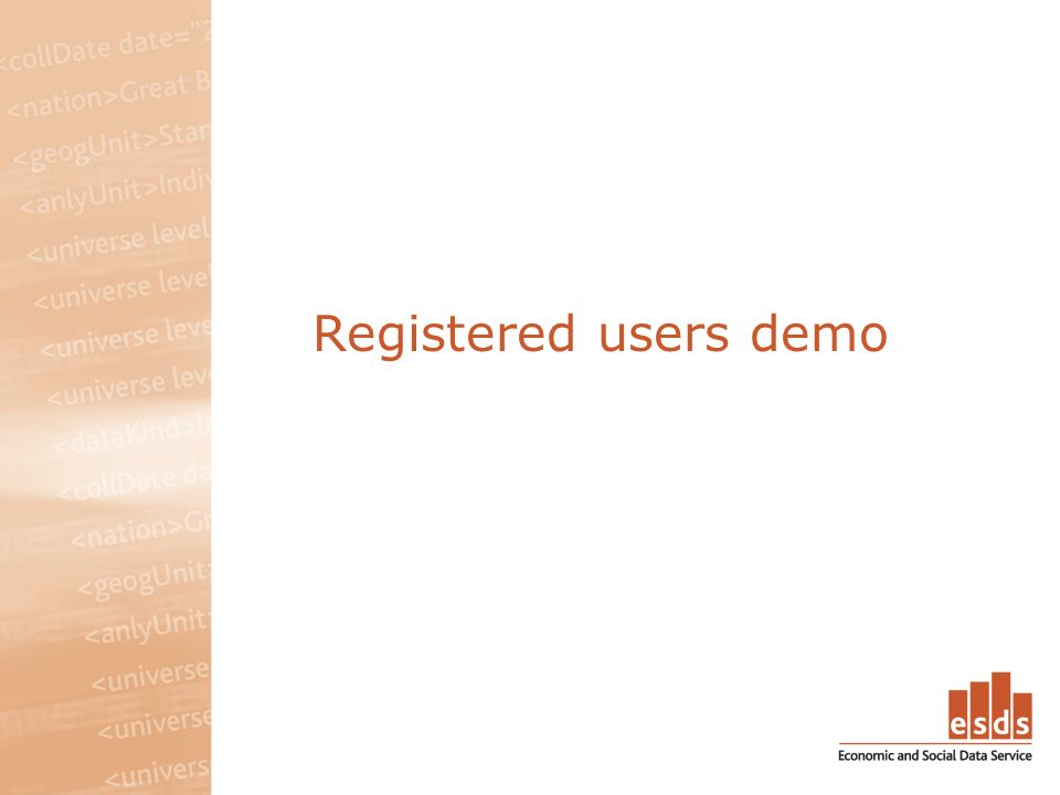 Registered users demo