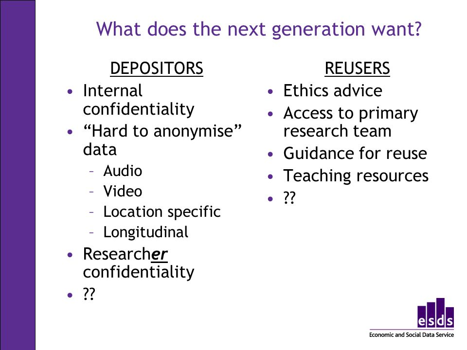 What does the next generation want.