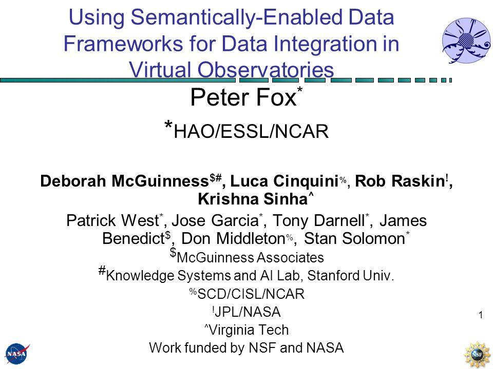 1 Using Semantically-Enabled Data Frameworks for Data