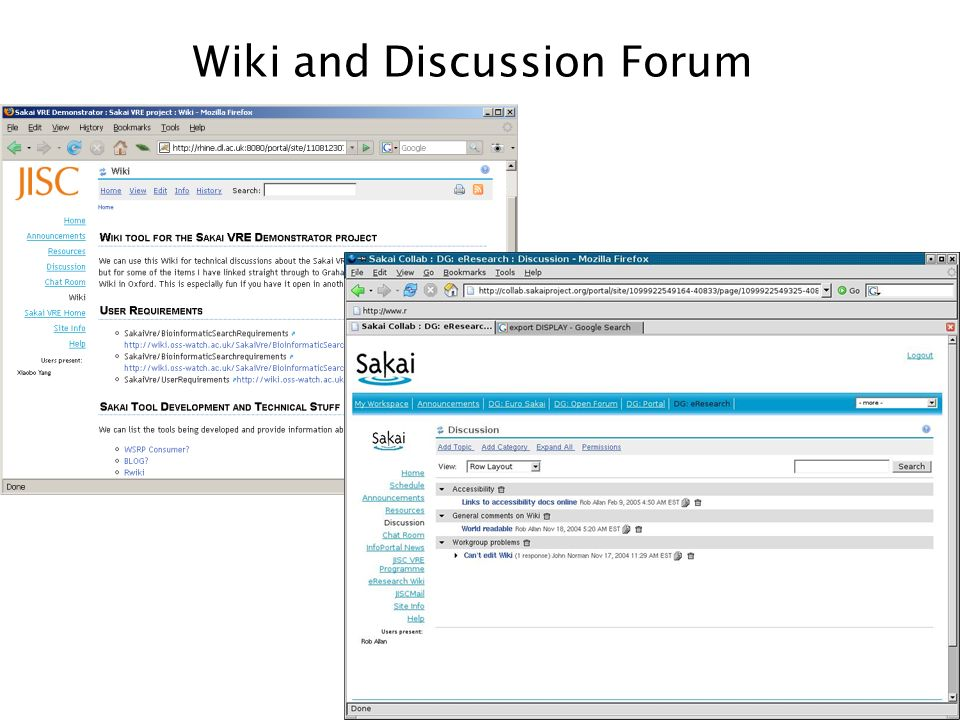 Wiki and Discussion Forum
