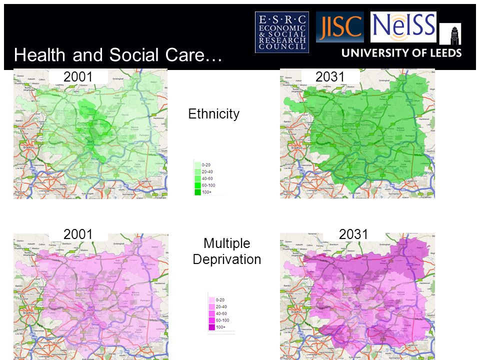 Health and Social Care… 2001 Ethnicity 2031 Multiple Deprivation 20312001