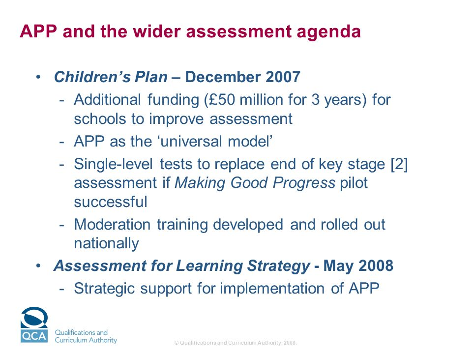 © Qualifications and Curriculum Authority, 2008.