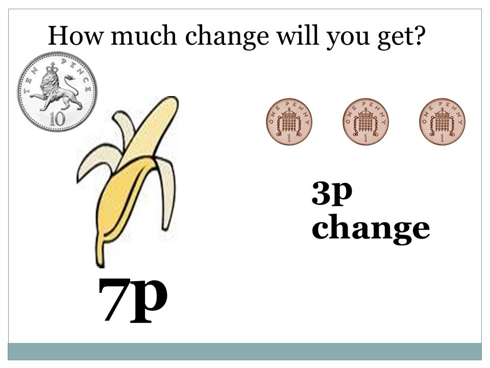 How much change will you get 7p 3p change