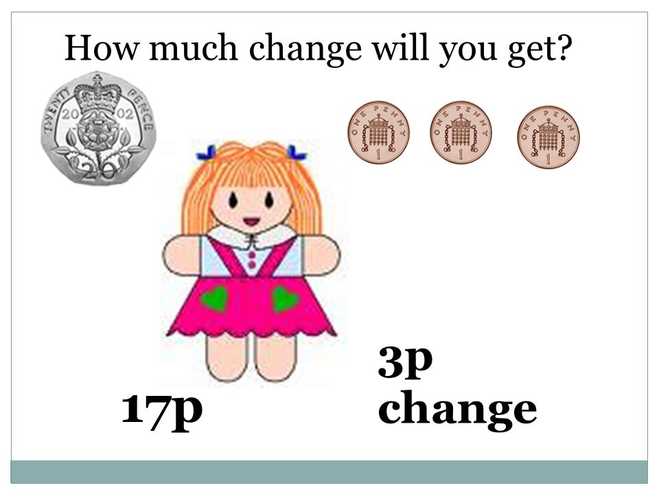 How much change will you get 17p 3p change