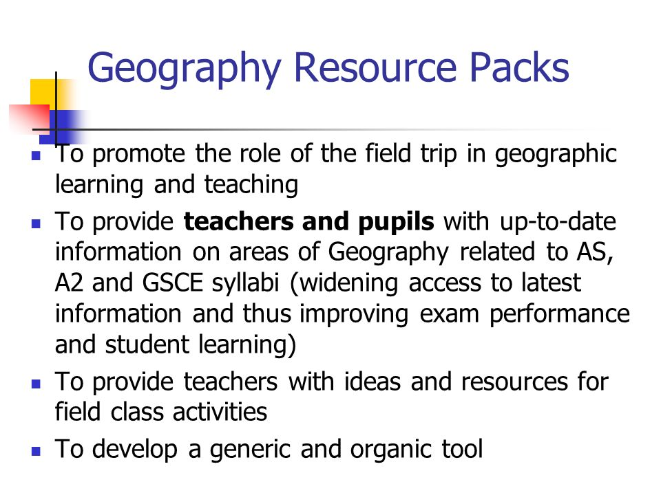Geomorphology Resource Pack Upper Wharfedale Materials For WP