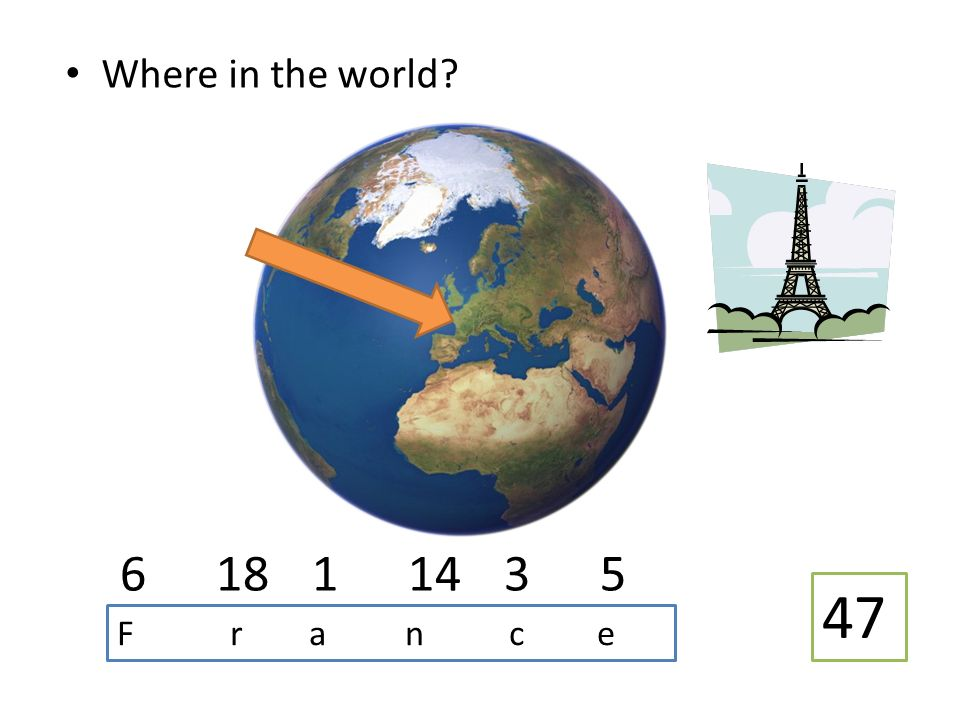 Where in the world 618 11435 47 F r a n c e