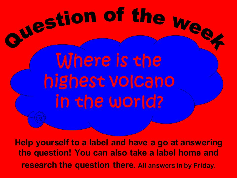 Help yourself to a label and have a go at answering the question.