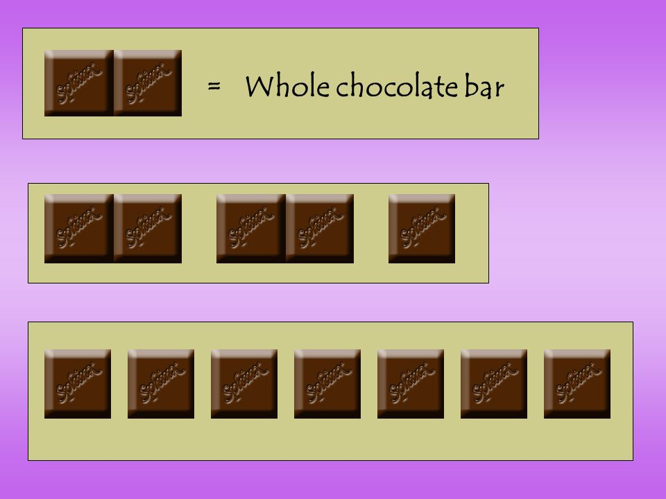 = Whole chocolate bar