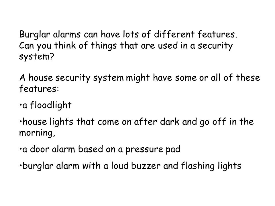 Alarms Design Technology 4d Alarms Are Used For Lots Of Different