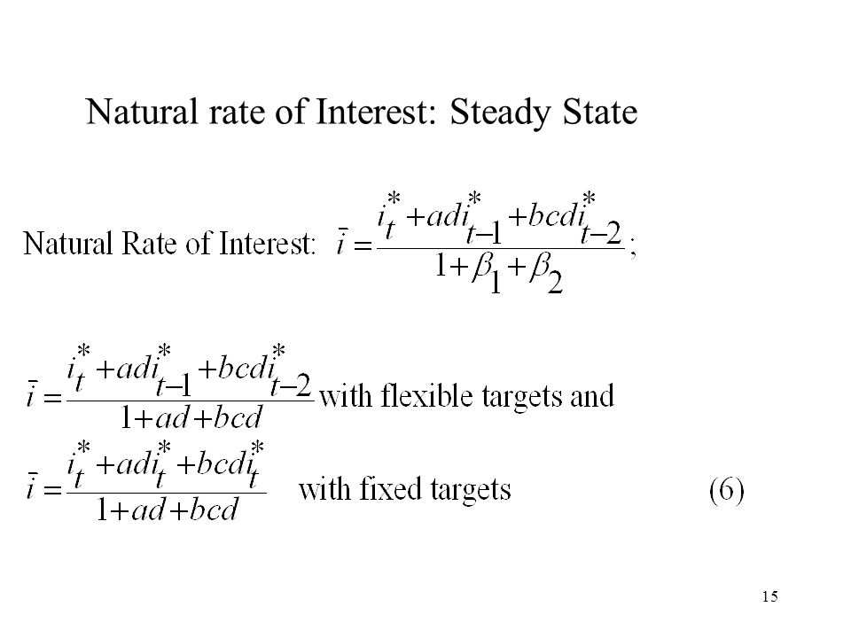15 Natural rate of Interest: Steady State