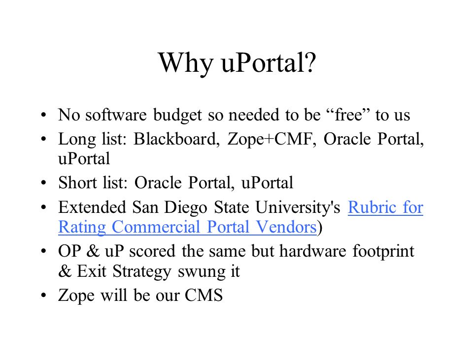 Why uPortal.