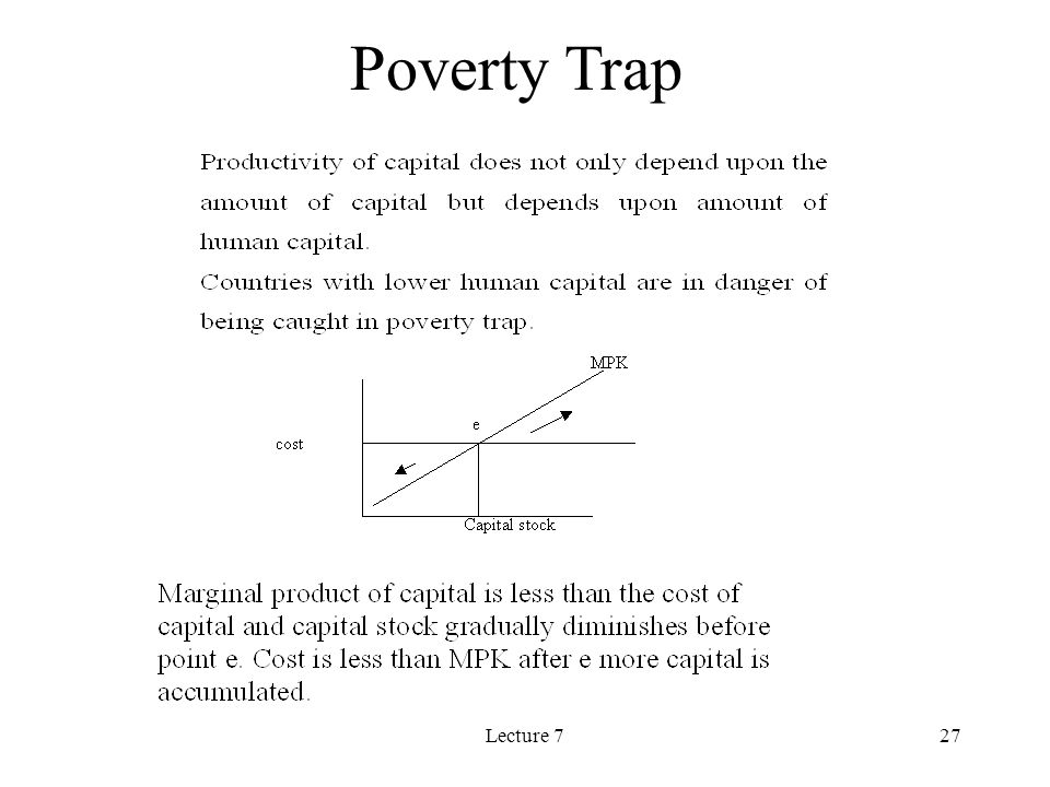 Lecture 727 Poverty Trap