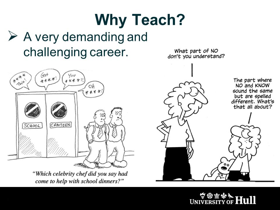Why Teach A very demanding and challenging career.