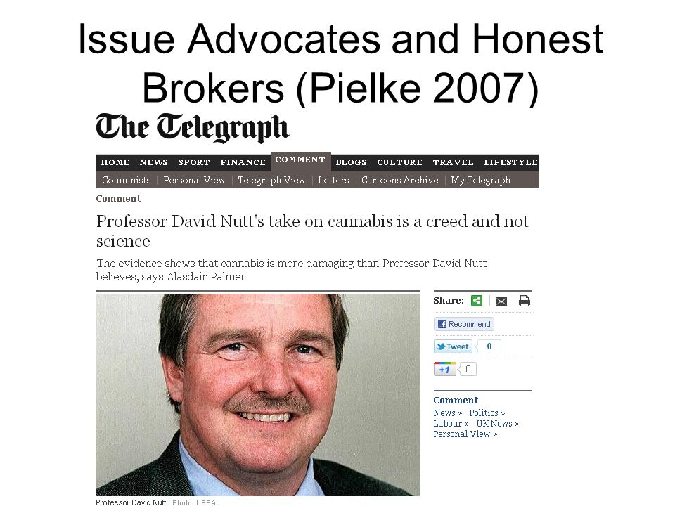 Issue Advocates and Honest Brokers (Pielke 2007)