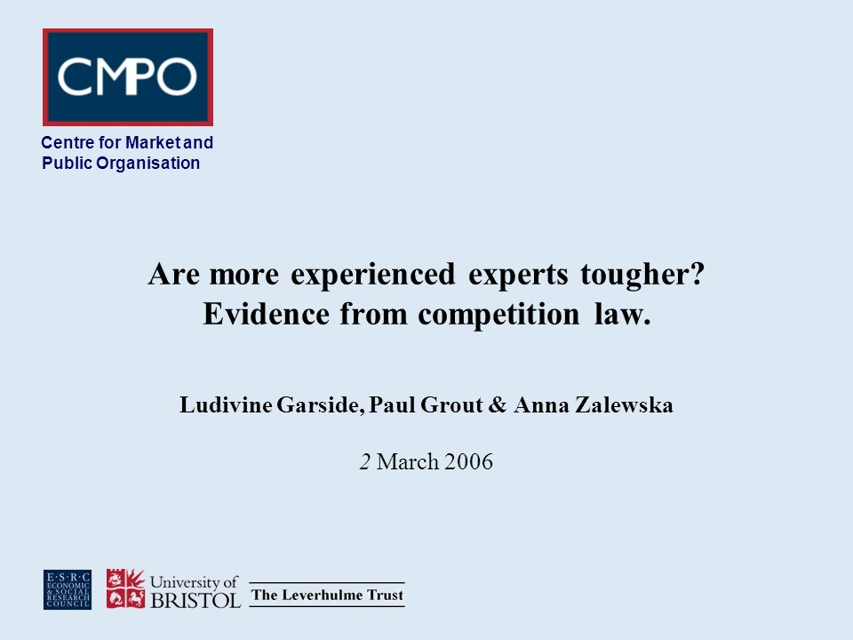 Are more experienced experts tougher. Evidence from competition law.
