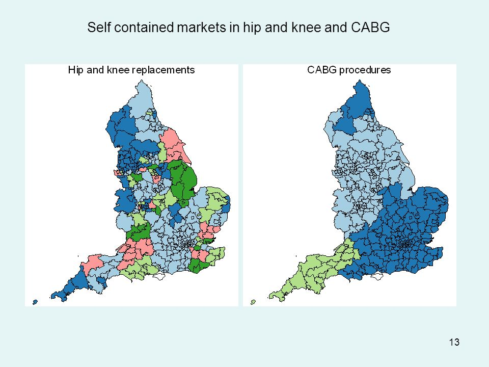 13 Self contained markets in hip and knee and CABG