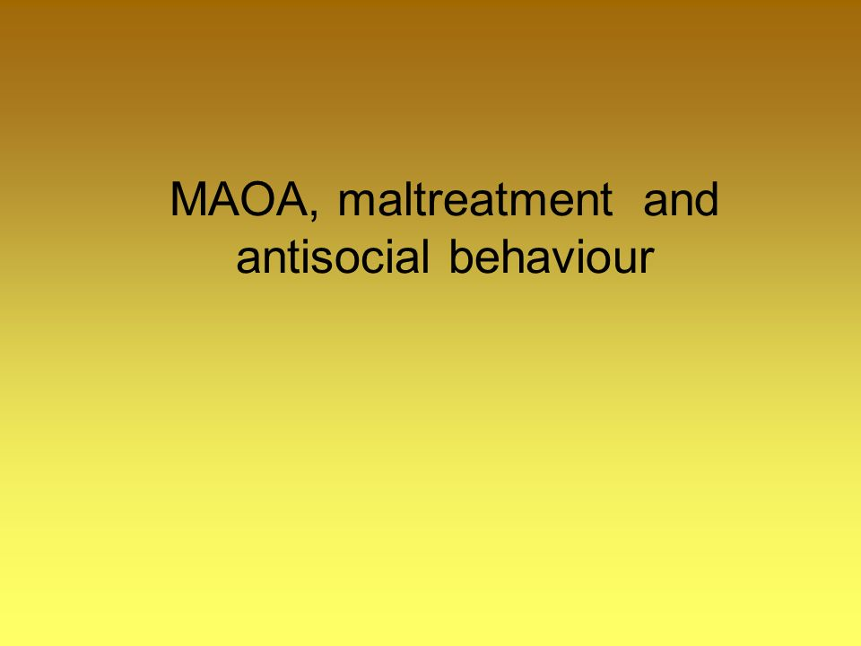 MAOA, maltreatment and antisocial behaviour