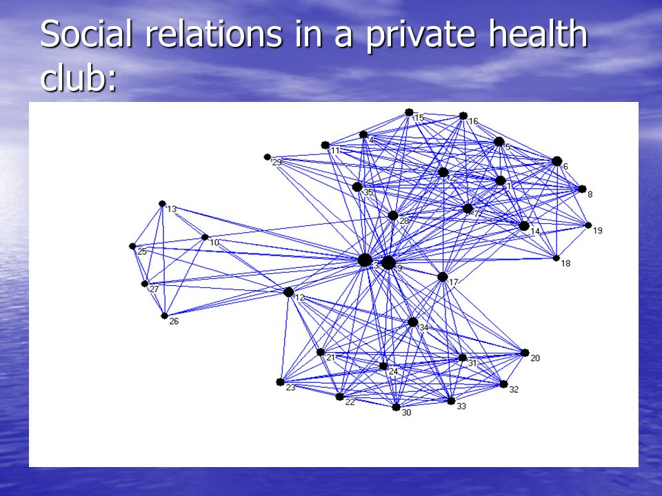Social relations in a private health club: