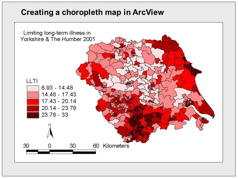 Creating a choropleth map in ArcView
