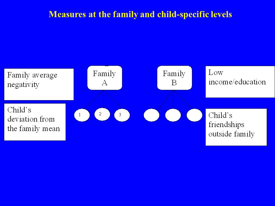 Measures at the family and child-specific levels