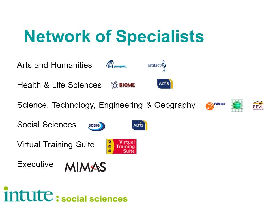 Network of Specialists Arts and Humanities Health & Life Sciences Science, Technology, Engineering & Geography Social Sciences Virtual Training Suite Executive