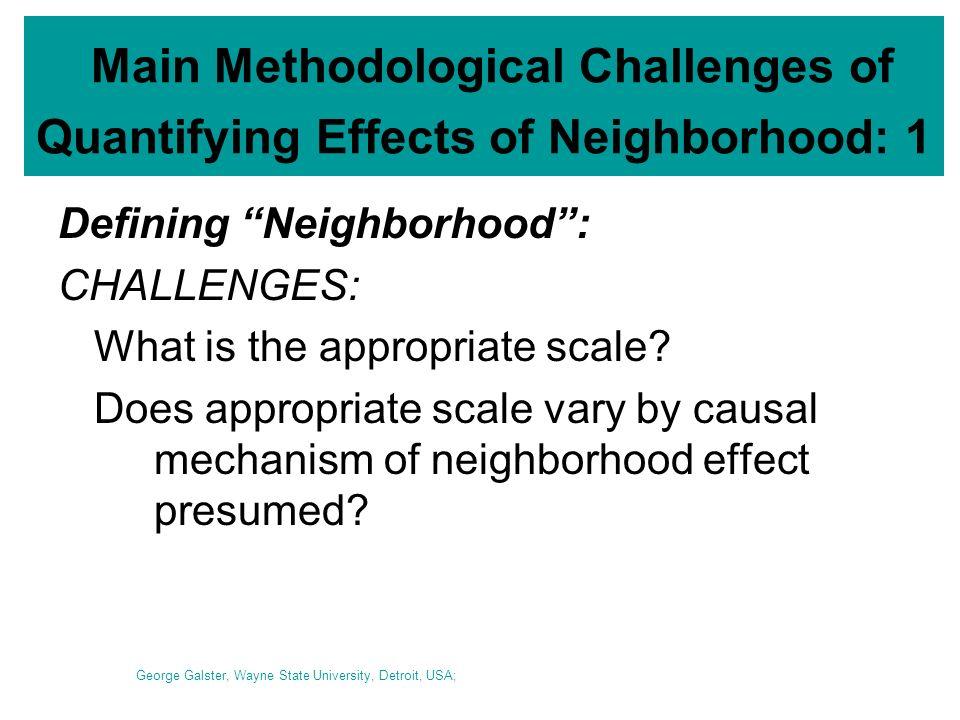 MEASURING THE EFFECT OF NEIGHBORHOOD ON HUMAN BEHAVIORS