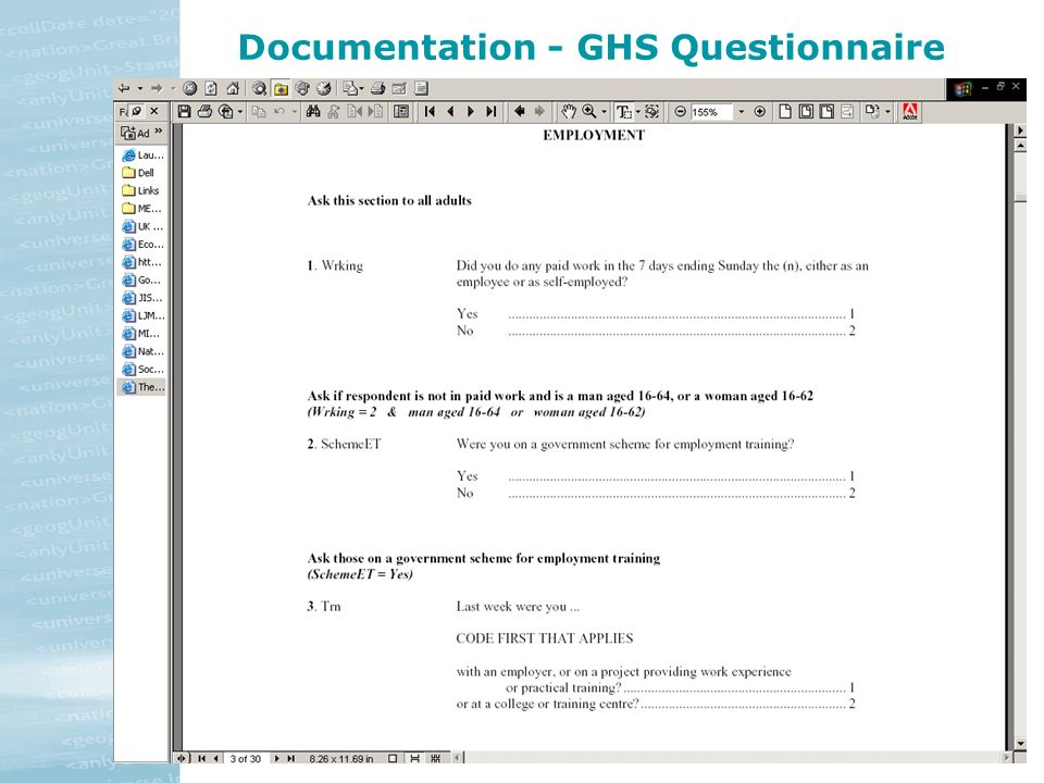 Documentation - GHS Questionnaire