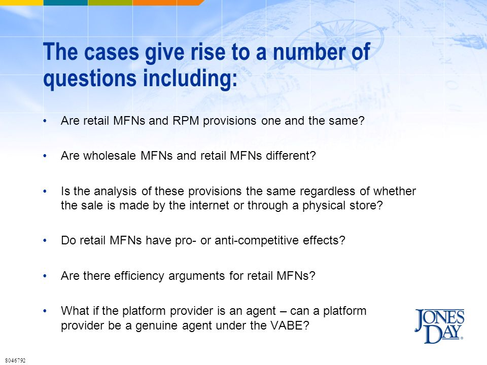 The cases give rise to a number of questions including: Are retail MFNs and RPM provisions one and the same.