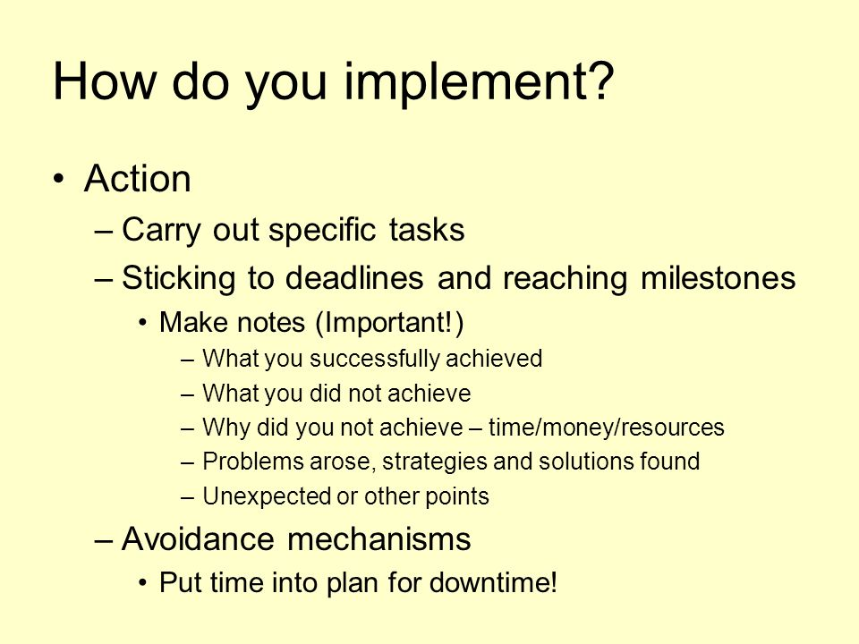 How do you implement.