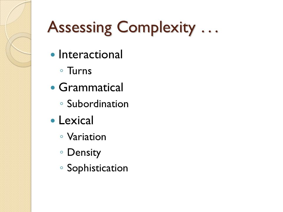Assessing Complexity...