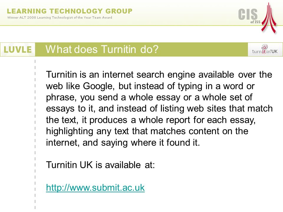 What does Turnitin do.