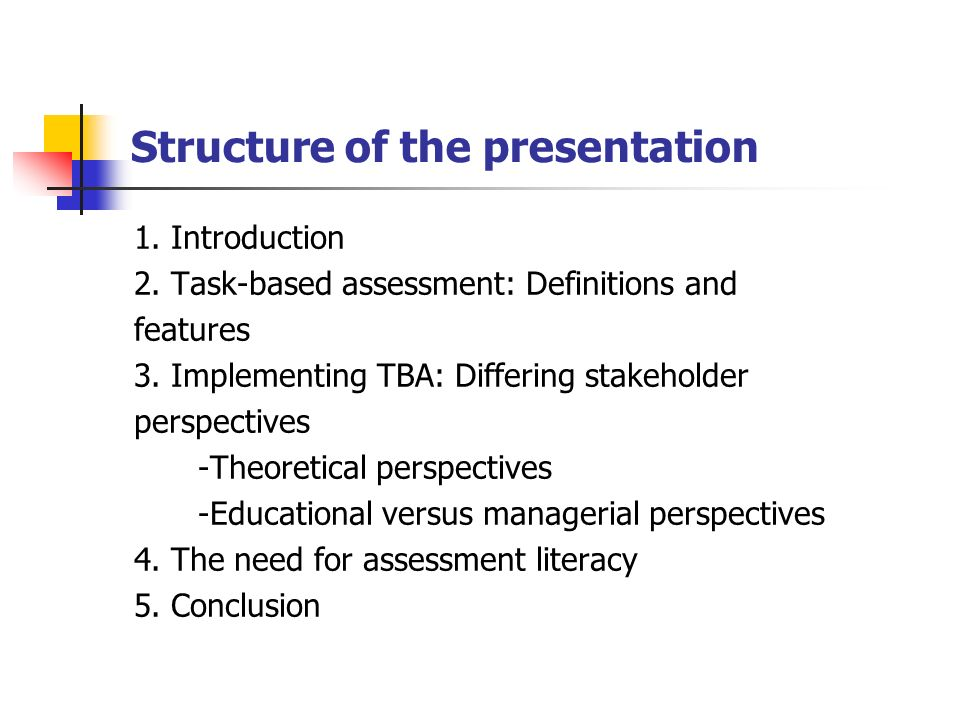 Structure of the presentation 1. Introduction 2.