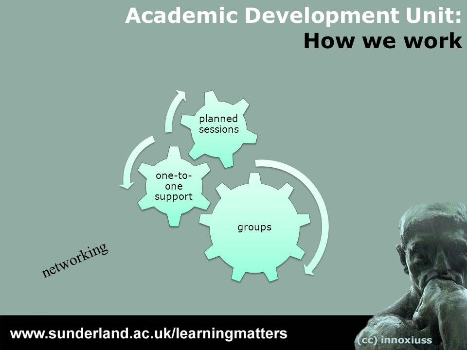 Academic Development Unit: How we work networking