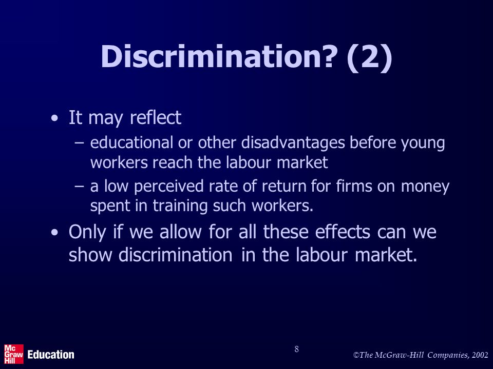 © The McGraw-Hill Companies, Discrimination.